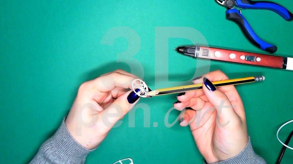 Хаски 3D ручкой. Каркас головы. Первый этап