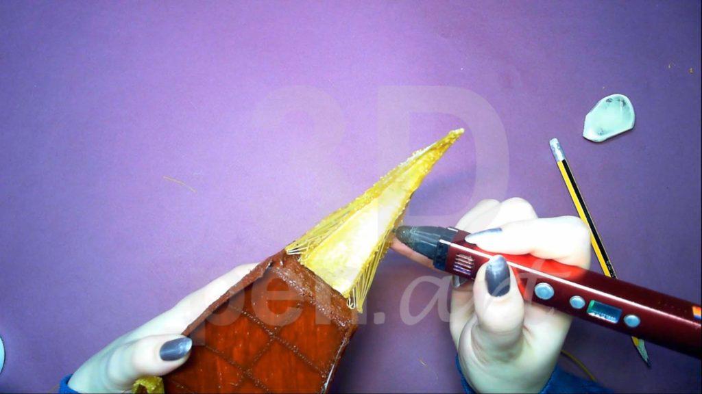 Корабль 3D ручкой. Основа носовой части