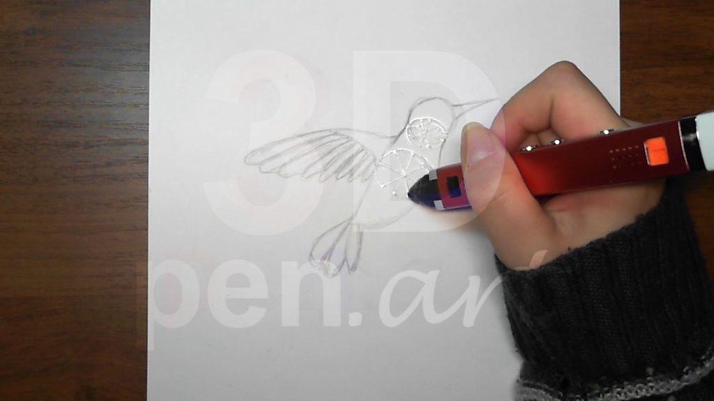 Колибри 3D ручкой. Каркас туловища. Основания