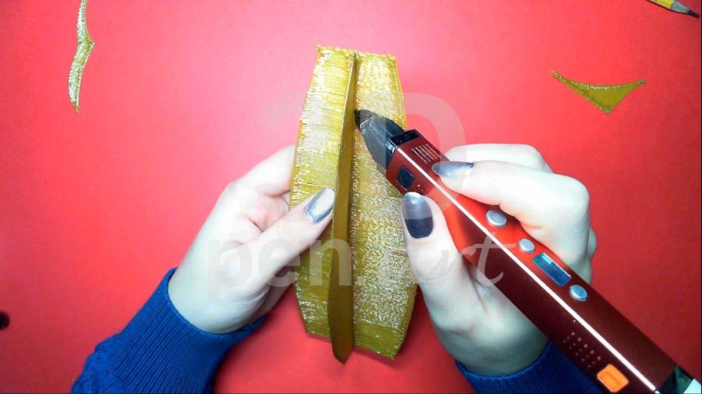 Корабль 3D ручкой. Соединяем детали основы