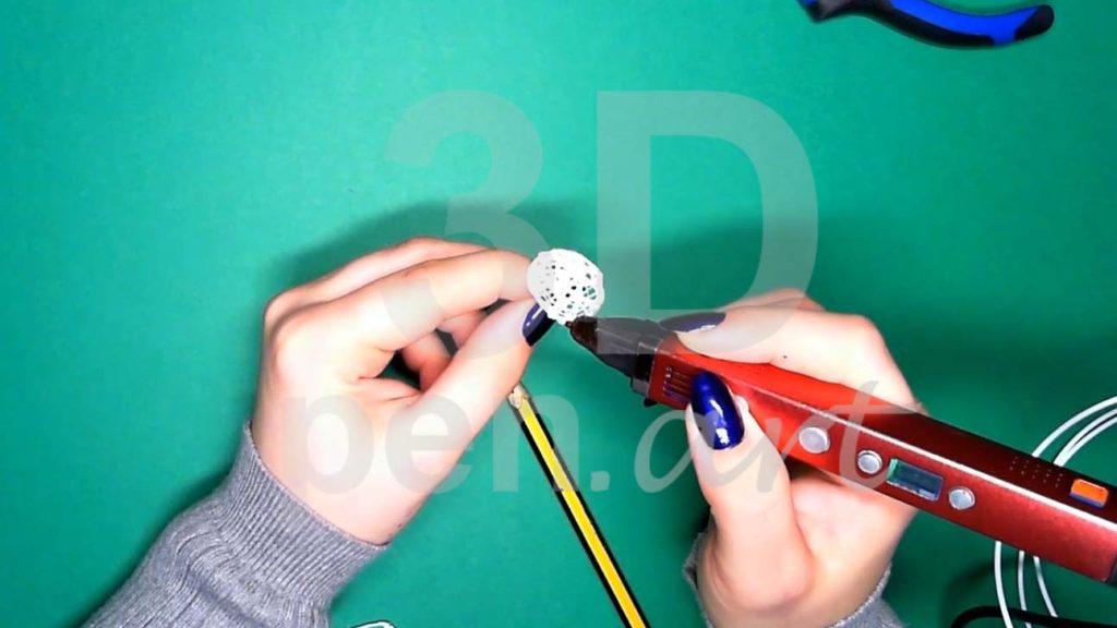 Хаски 3D ручкой. Каркас головы. Третий этап