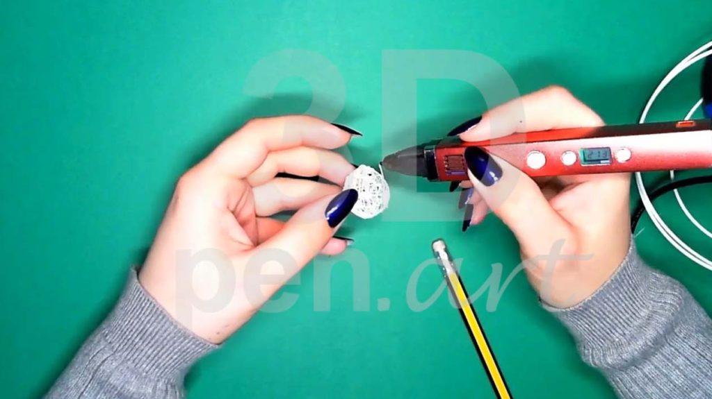 Хаски 3D ручкой. Каркас головы со второй стороны