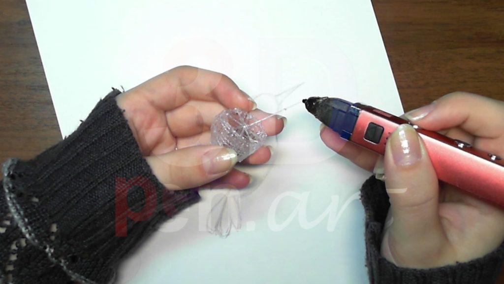 Колибри 3D ручкой. Каркас хвоста
