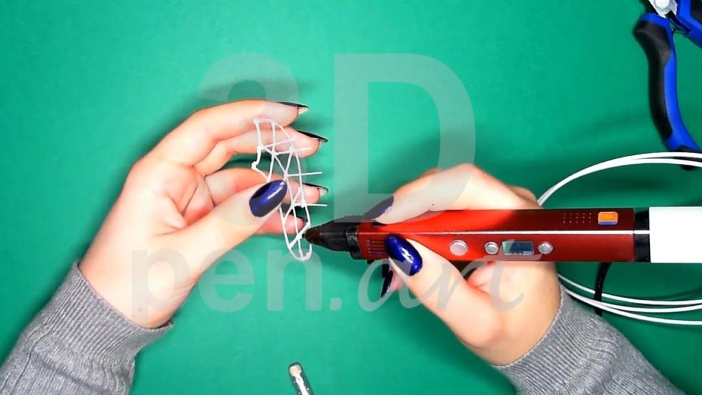 Хаски 3D ручкой. Каркас тела. Центральные прямые