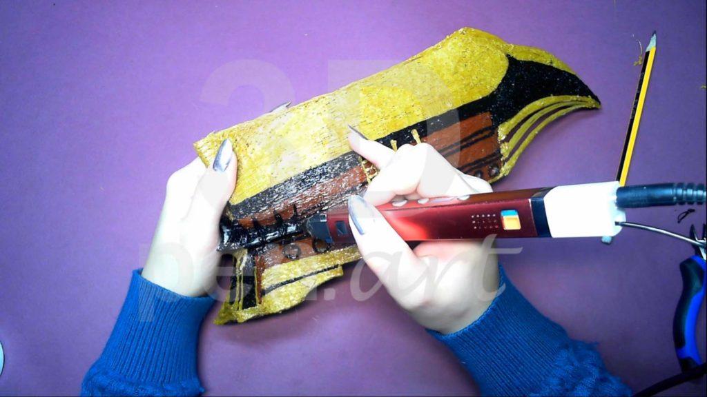 Корабль 3D ручкой. Детализация гакаборта