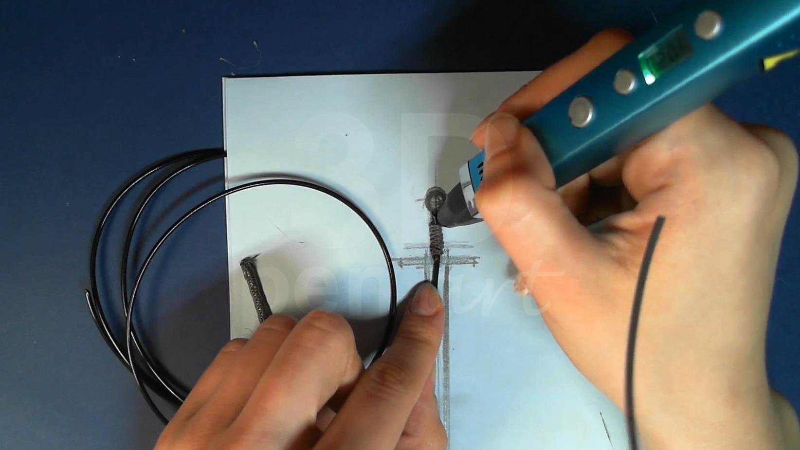 Ведьмак 3D ручкой. Делаем рукоятку