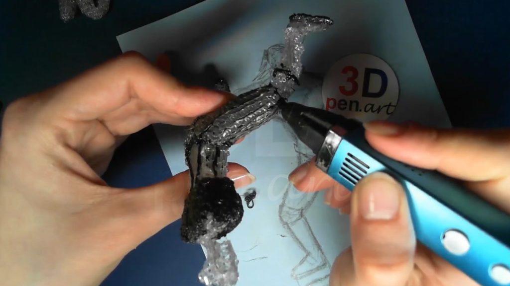 Ведьмак 3D ручкой. Детализируем штаны