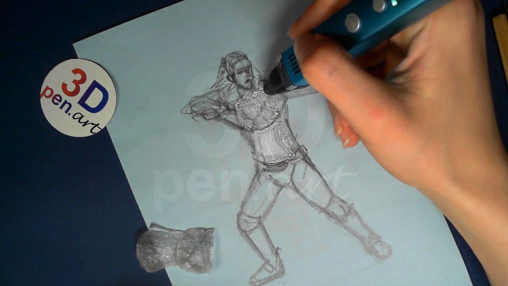 Ведьмак 3D ручкой. Детали для торса