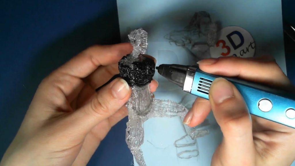 Ведьмак 3D ручкой. Закрашиваем верхнюю часть брони