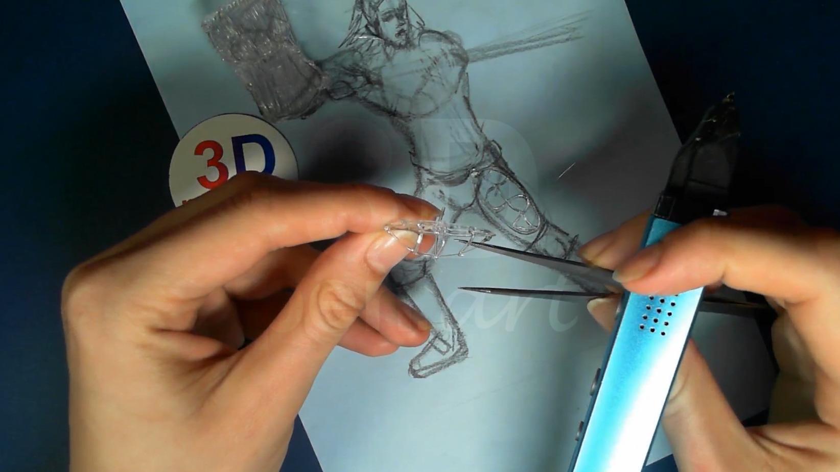 Ведьмак 3D ручкой. Каркас бёдер