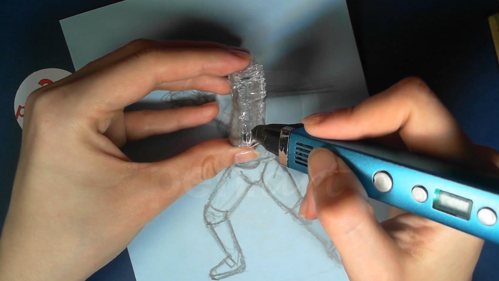 Ведьмак 3D ручкой. Каркас торса