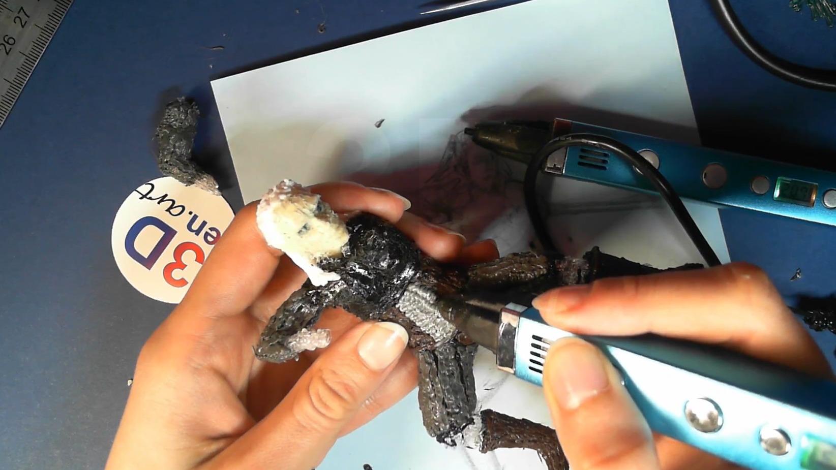 Ведьмак 3D ручкой. Моделируем фактуру кольчуги