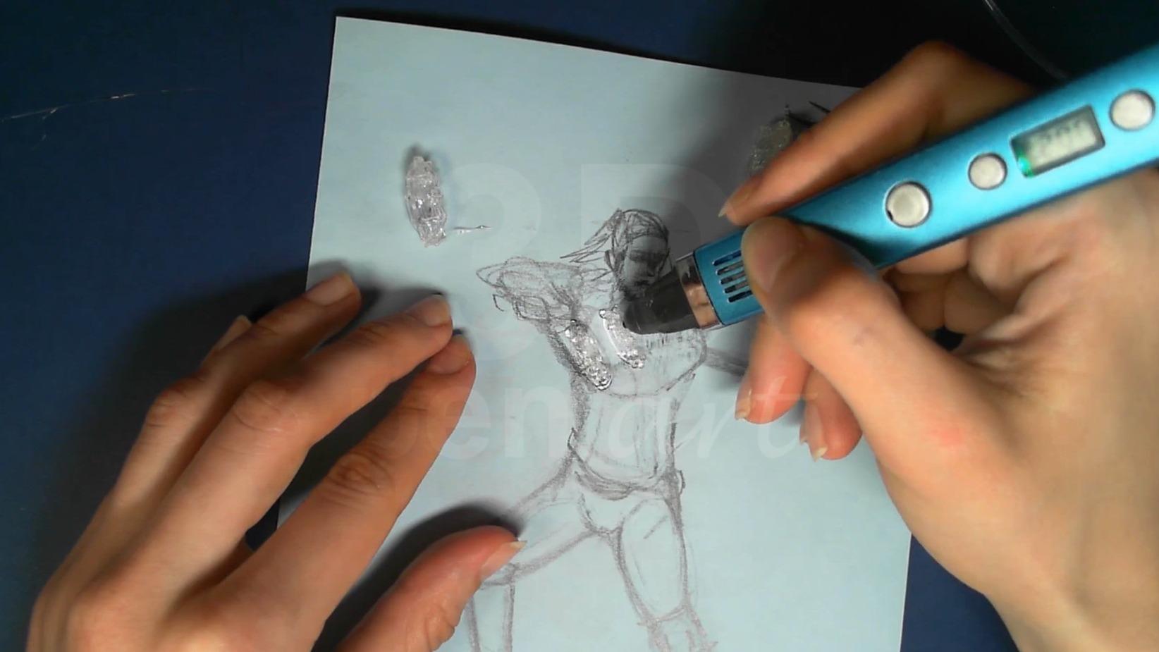 Ведьмак 3D ручкой. Наслаиваем предплечья