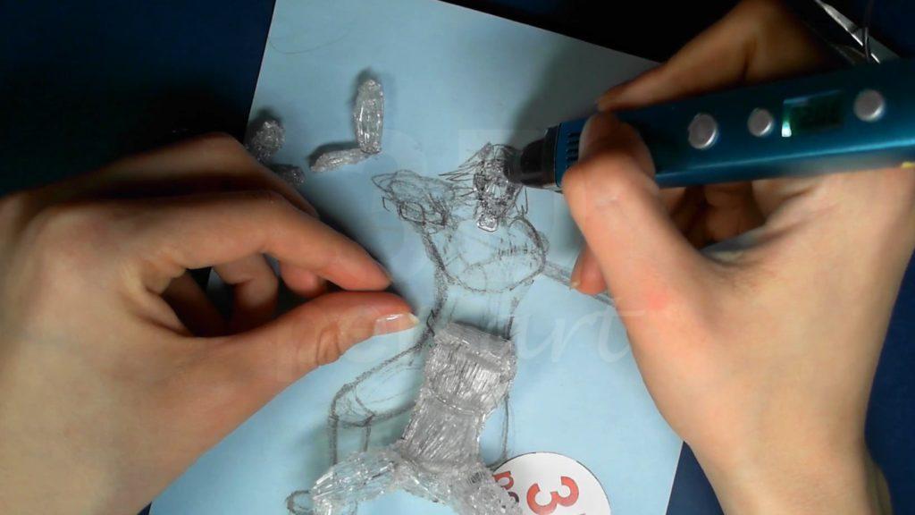 Ведьмак 3D ручкой. Обводим основания для головы и шеи