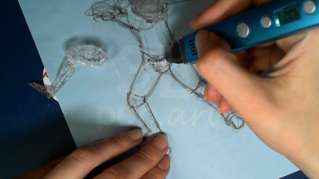 Ведьмак 3D ручкой. Обводим таз