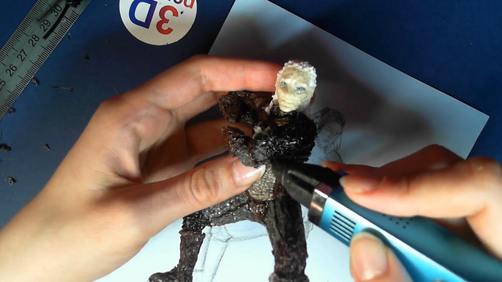 Ведьмак 3D ручкой. Присоединяем левую руку