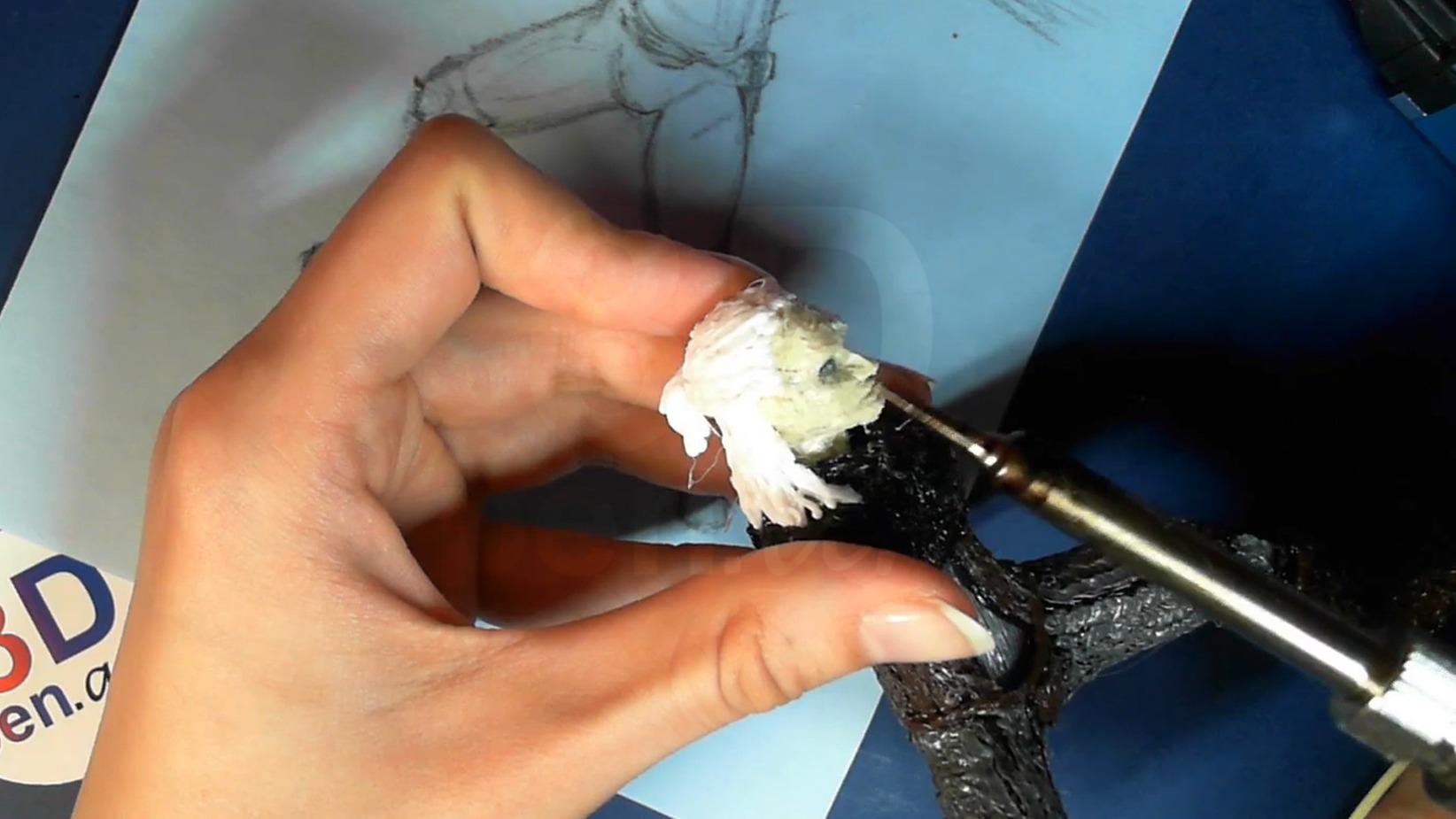 Ведьмак 3D ручкой. Рисуем и выплавляем рот