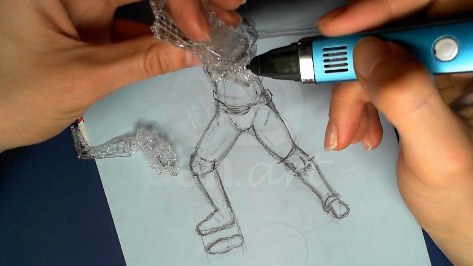 Ведьмак 3D ручкой. Скрепляем таз с торсом