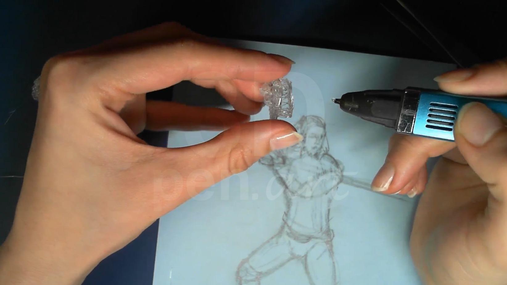 Ведьмак 3D ручкой. Соединяем части головы