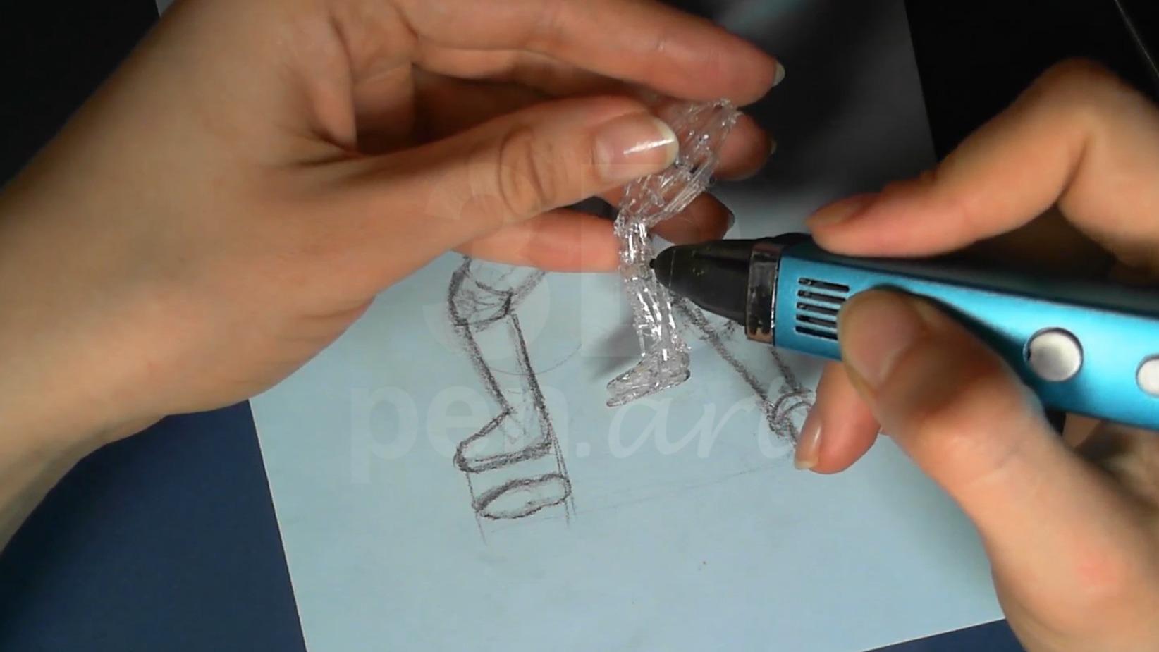 Ведьмак 3D ручкой. Соединяем части ног