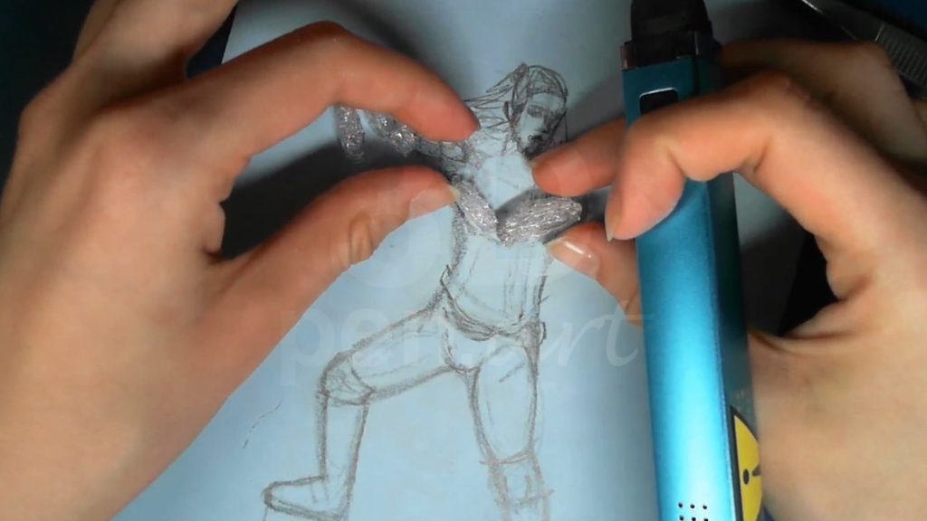 Ведьмак 3D ручкой. Соединяем части рук