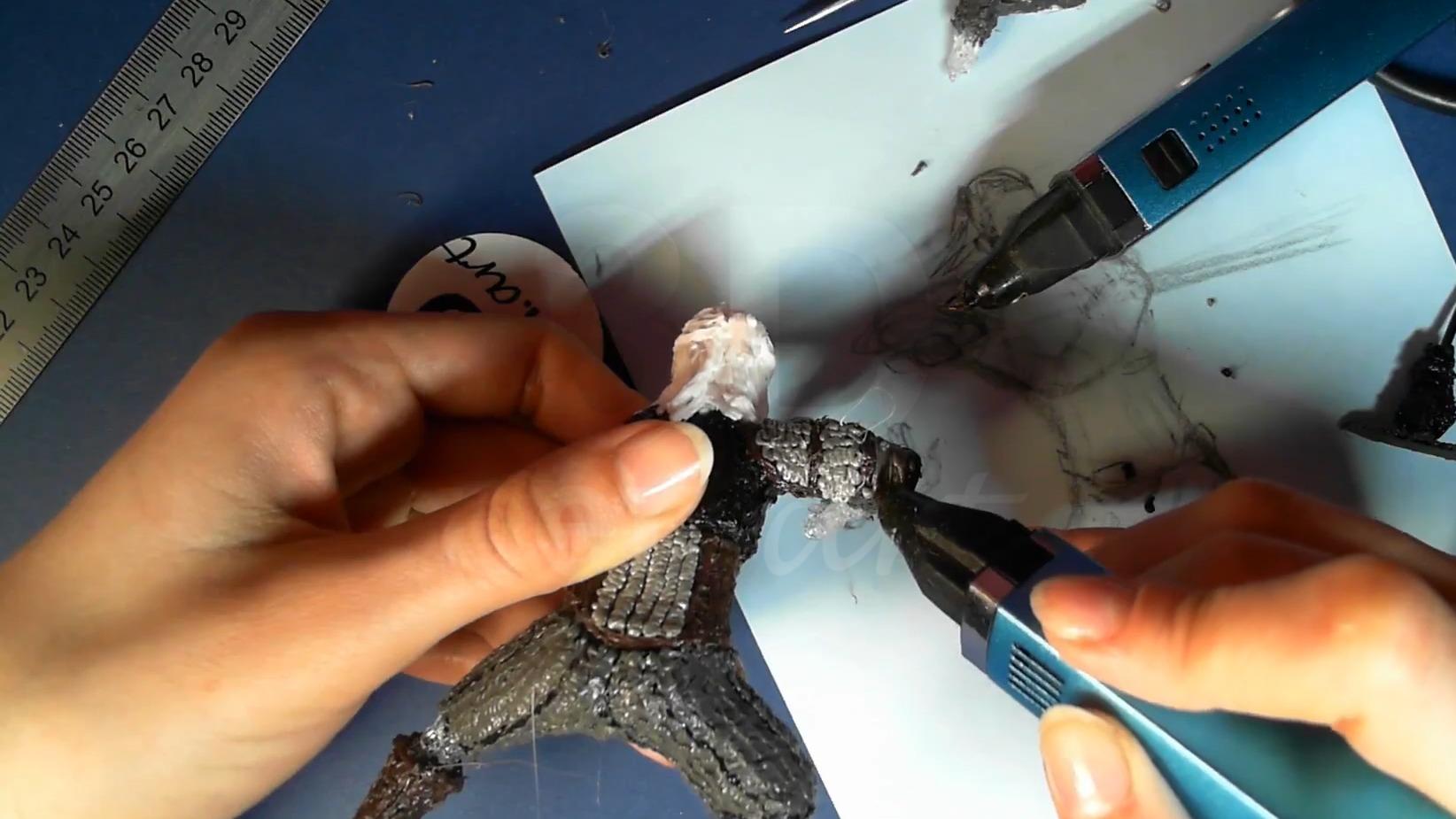 Ведьмак 3D ручкой. Создаём кольчужные щитки