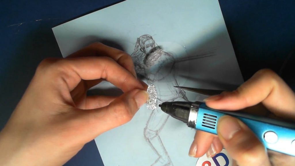 Ведьмак 3D ручкой. Создаём объёмные плечи