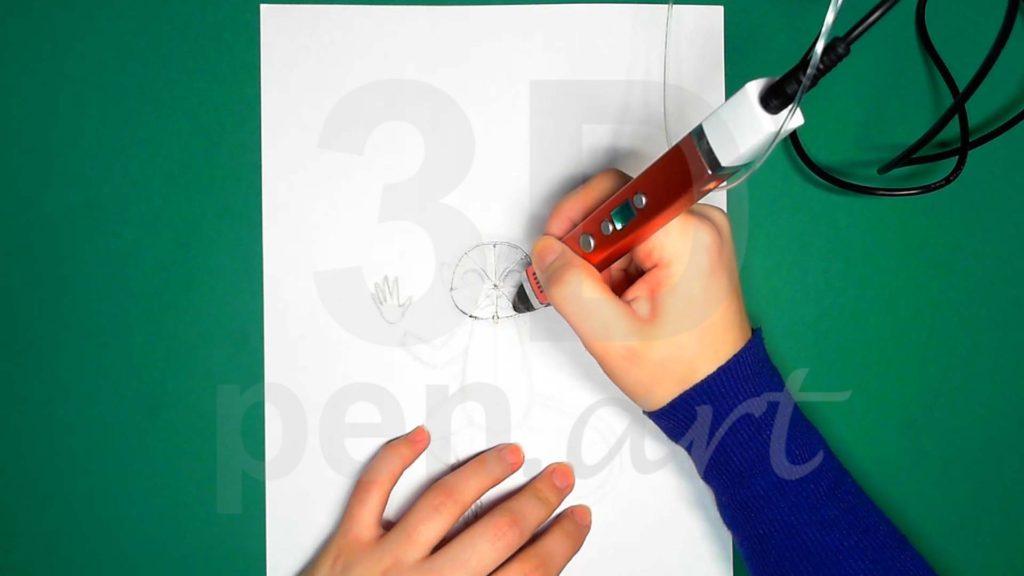 Обезьяна 3D ручкой. Основа каркаса головы
