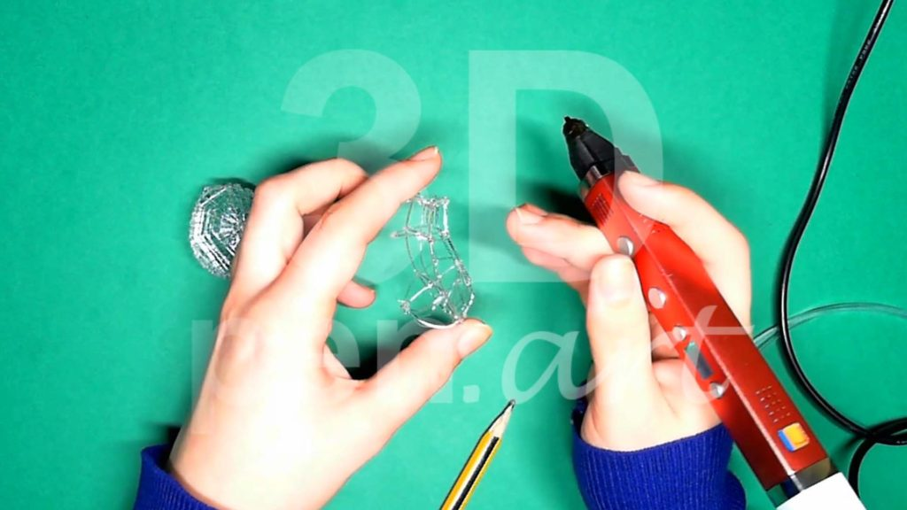 Обезьяна 3D ручкой. Каркас тела. Шаг 4