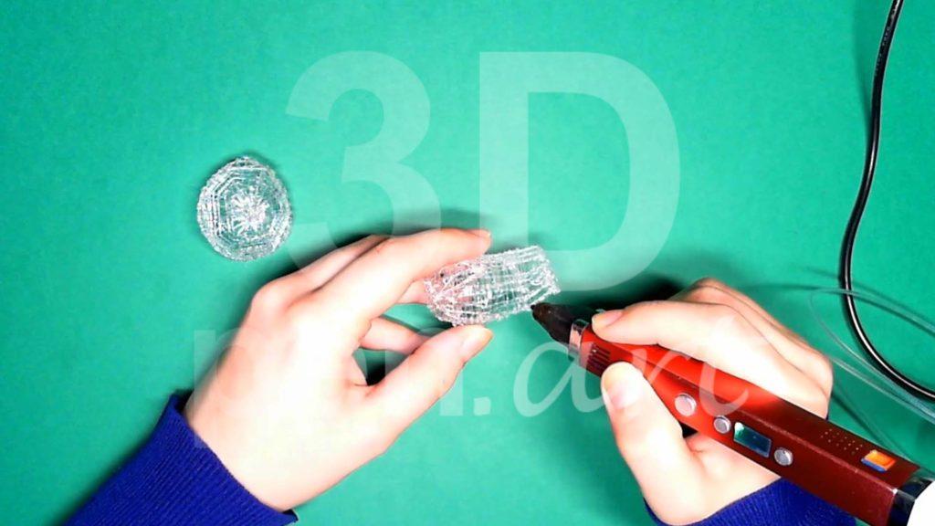 Обезьяна 3D ручкой. Каркас тела. Шаг 5