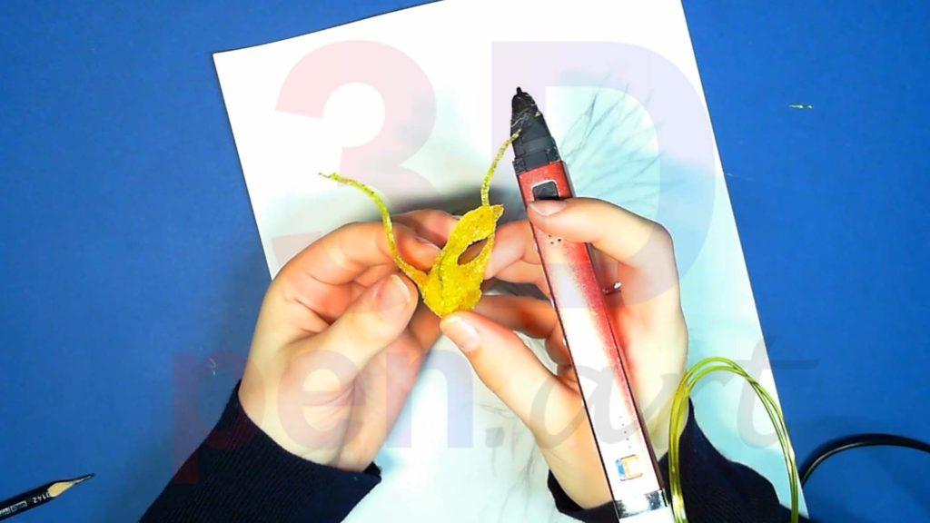 Феникс 3D ручкой. Крепим основы крыльев