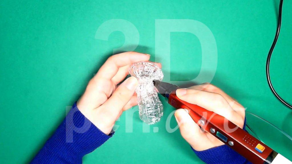 Обезьяна 3D ручкой. Соединяем каркасы головы и тела