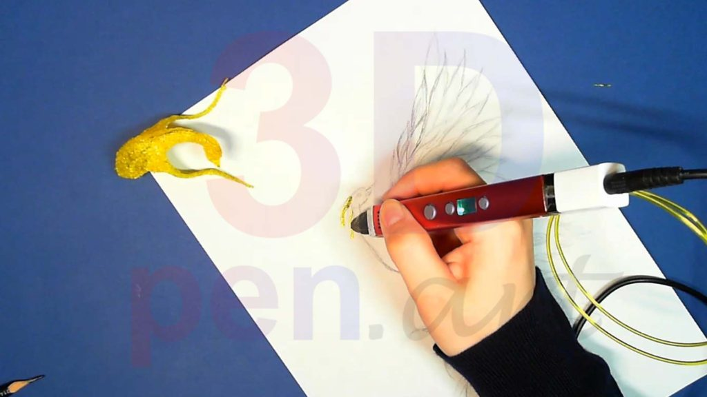 Феникс 3D ручкой. Рисуем детали хохолка