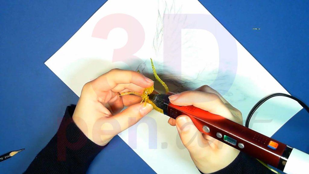 Феникс 3D ручкой. Крепим хохолок