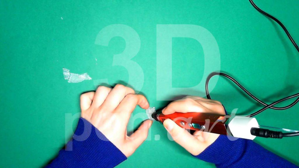 Обезьяна 3D ручкой. Нижние лапы. Шаг 2
