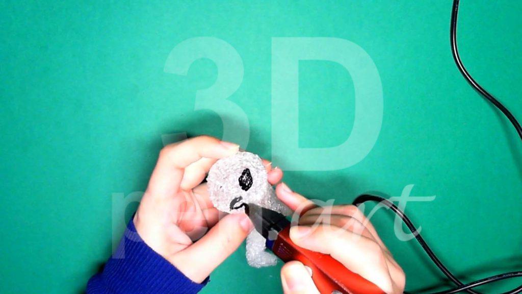 Обезьяна 3D ручкой. Рисуем глаза