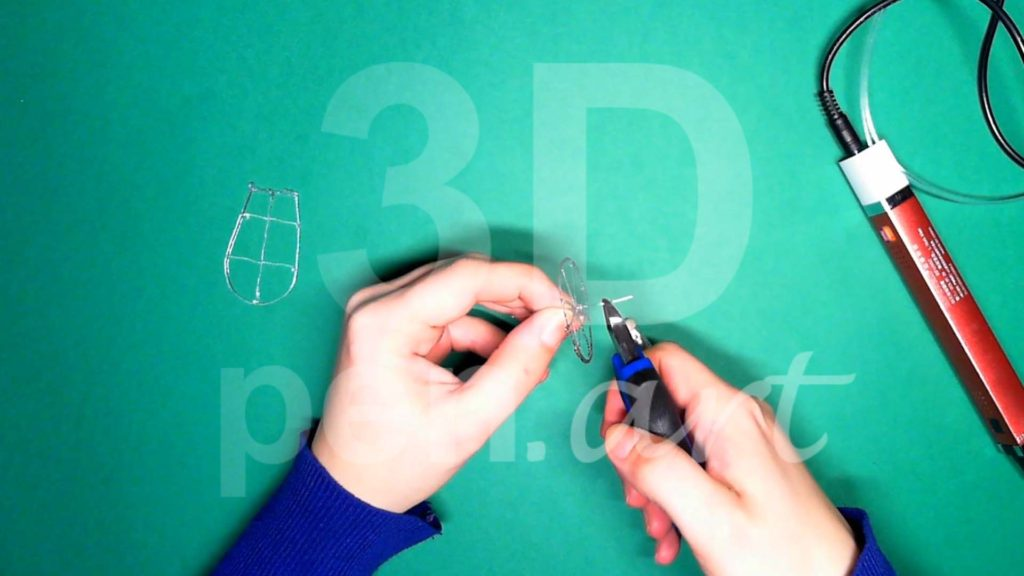 Обезьяна 3D ручкой. Каркас головы. Шаг 1