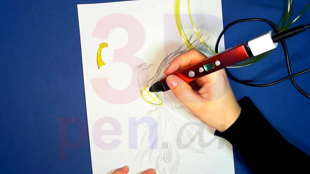 Феникс 3D ручкой. Каркас тела. Шаг 1