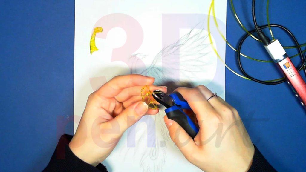 Феникс 3D ручкой. Каркас тела. Шаг 2