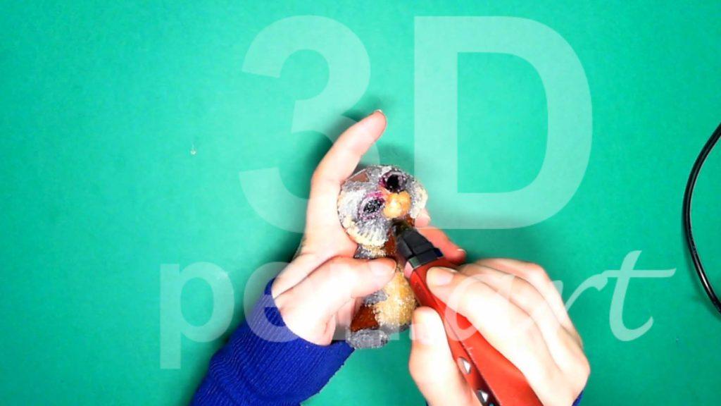 Обезьяна 3D ручкой. Делаем мордочку