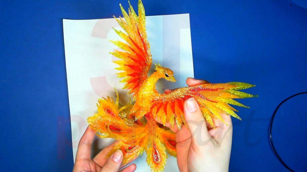 Феникс 3D ручкой. Готовая поделка