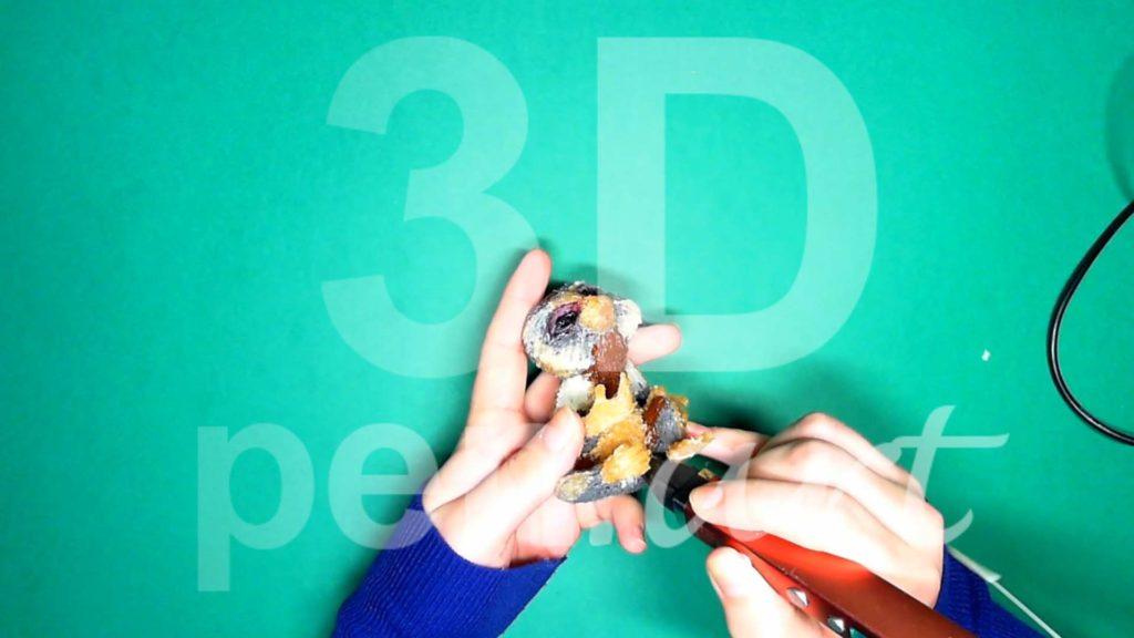 Обезьяна 3D ручкой. Крепим кисти