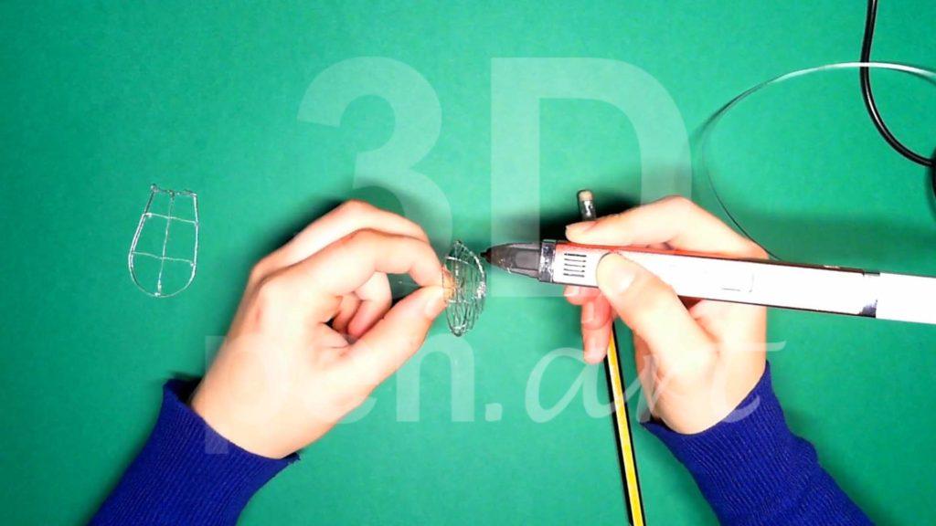 Обезьяна 3D ручкой. Каркас головы. Шаг 3