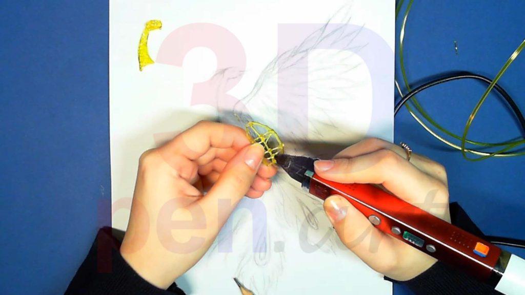 Феникс 3D ручкой. Каркас тела. Шаг 3