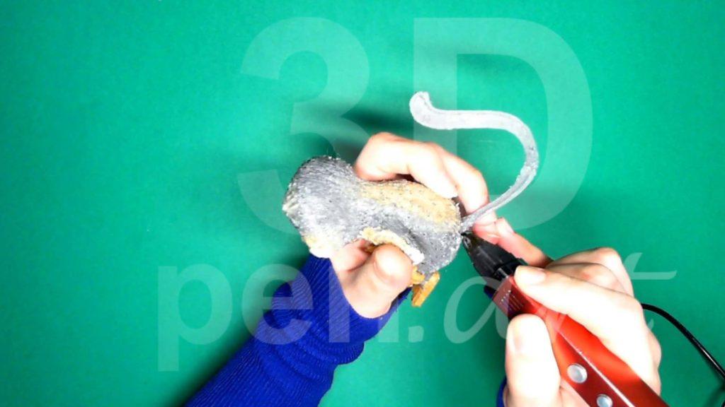 Обезьяна 3D ручкой. Присоединяем хвост