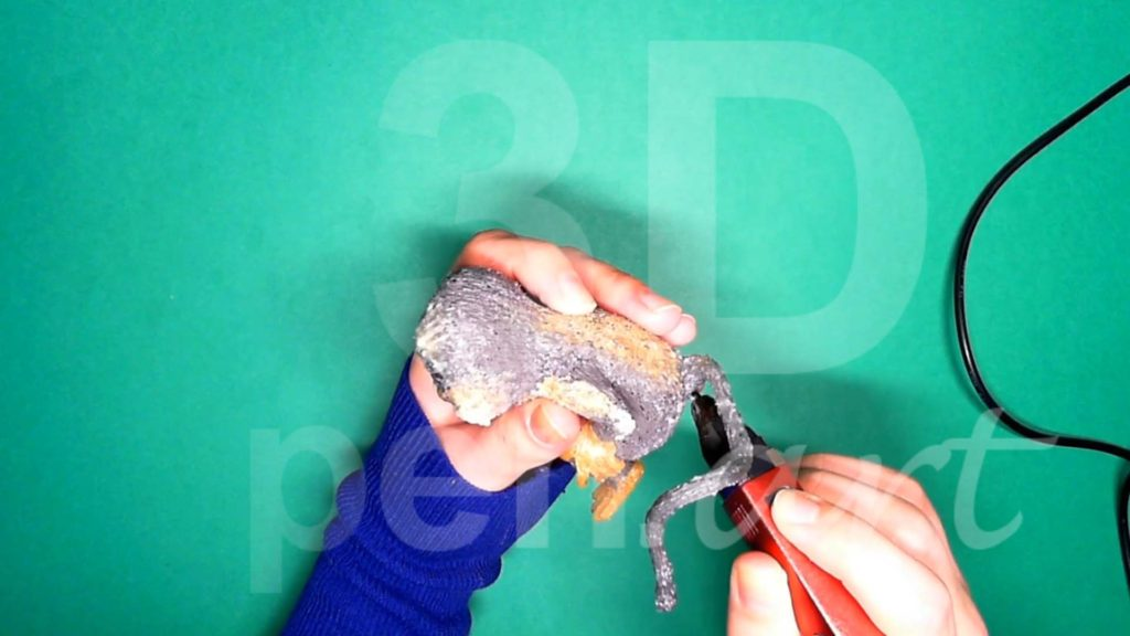 Обезьяна 3D ручкой. Меняем форму хвоста