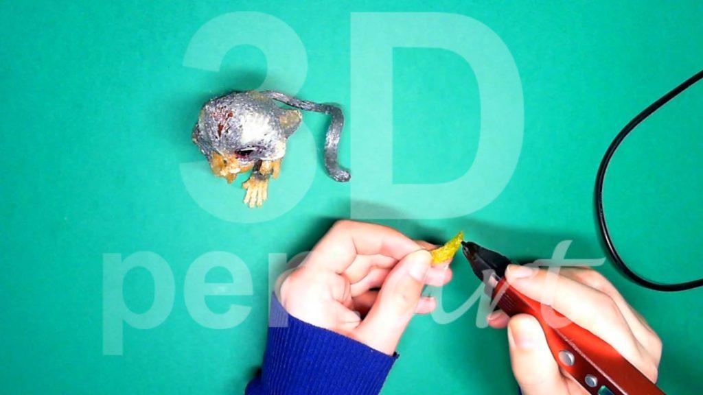 Обезьяна 3D ручкой. Рисуем банан