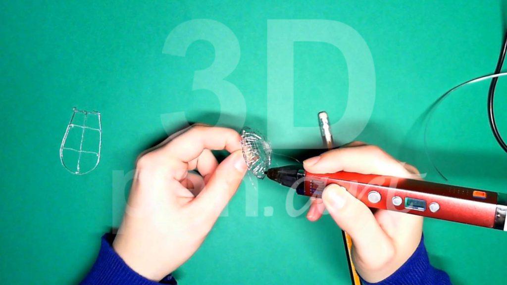 Обезьяна 3D ручкой. Каркас головы. Шаг 4