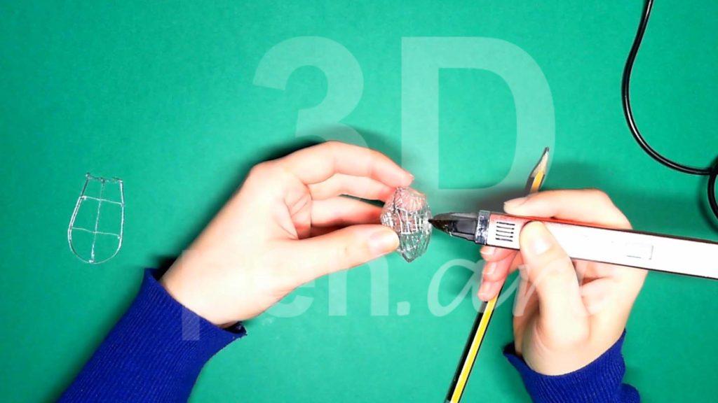 Обезьяна 3D ручкой. Каркас головы. Шаг 5