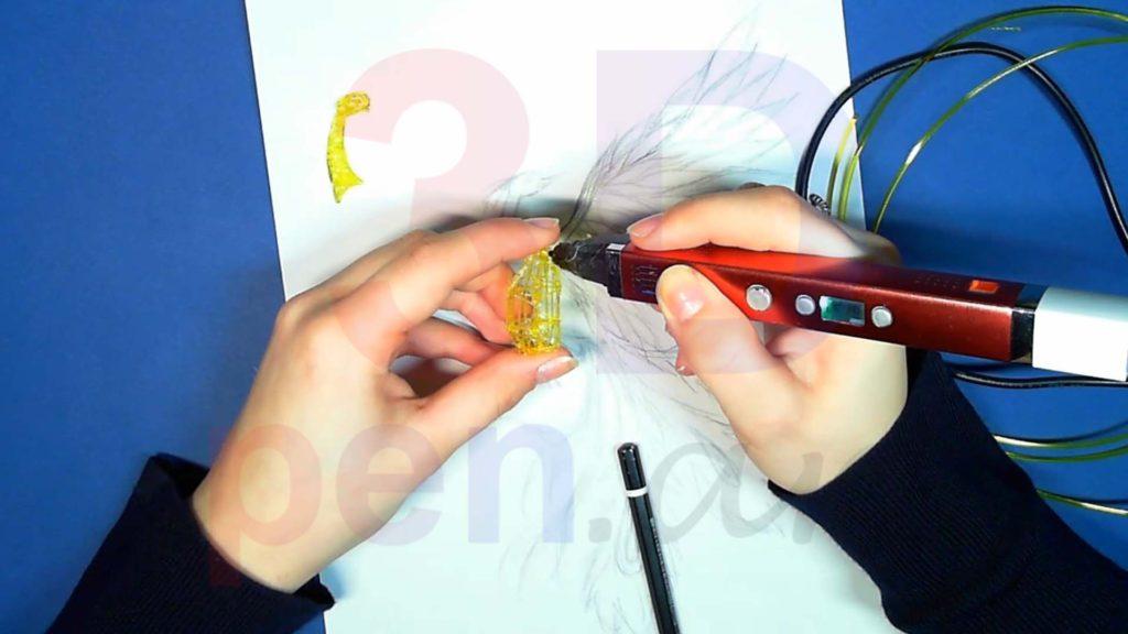Феникс 3D ручкой. Каркас тела. Шаг 5